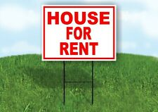 House For Rent Red White Yard Sign Road With Stand Lawn Sign