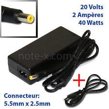 Notebook Netzteil Ladegerät 20V 2A 0225A2040 für diverse Notebooks 5,5/2,5mm TOP
