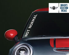 MIni Cooper Not Normal Side Windshield Decal windows sticker graphic