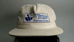 Vintage The Medicine Shoppe Khaki Corduroy Baseball Cap Hat