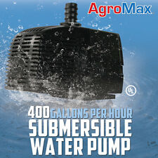 400 GPH SUBMERSIBLE WATER PUMP GALLONS PER HOUR HYDROPONICS xtreme cap fountain