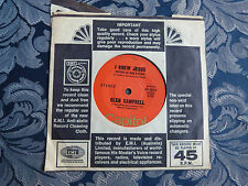 RECORD 45 RPM - GLEN CAMPBELL, I KNEW JESUS(BEFORE HE WAS A STAR) / ON THIS ROAD