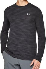 Under Armour Vanish Mens Training Top Black Seamless Long Sleeve Sports Jersey