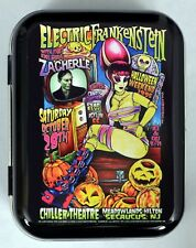 JOHNNY ACE ELECTRIC FRANKENSTEIN ZACHERLE MONSTER HORROR HINGED TOBACCO TIN MINT