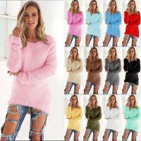 Plus Womens Warm Long Sleeve Sweater Sweatshirt Jumper Pullover Tops Blouse CHEN