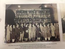 RIPRODUZIONE FOTO ALINARI CACCIATORI FATTORIA MELETO TOSCANA 9X12 1930 (4)