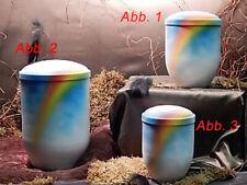 Tierurne aus Kupfer Weiß Airbrush-Regenbogen (Abb.1) Volumen ca. 1 Liter - 20556