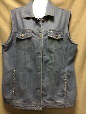 Woman's Tudor Court  denim vest.  size XL