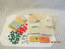 1961 Monopoly Board Game Replacement Pieces With Instruction Book!