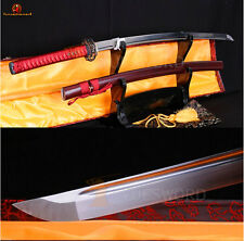 Handmade Japanese Samurai Katana Full Tang Sharp Blade 1060 Carbon Steel Sword