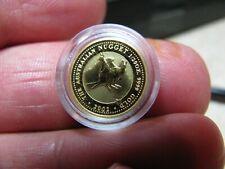 NICE!! 2002 AUSTRALIAN NUGGET 1/20th OZ $5 .9999 FINE GOLD COIN - PERTH MINT