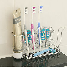 Stopia Steel Toothbrush Holder Wall Mount Home Bathroom Suction Cup Rack Hanger