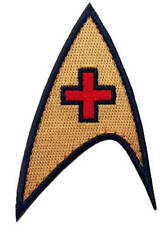 Gold Starfleet Medic Officer Cosplay Decorative Accessory Iron-on Patch