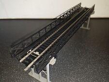 HORNBY GIRDER BRIDGE WITH GIRDER SIDEWALLS AND FOOTPATH. NICKEL SILVER TRACK