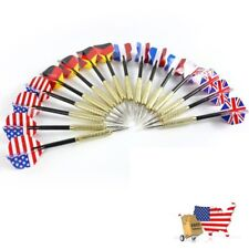 US Steel Tip Darts National Flag Flights Stainless Steel Needle Tip Dart Set