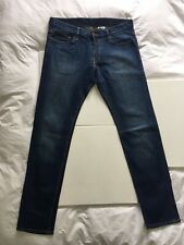 Mens Jeans H&M Slim Low Waist W 33 L 34 Blue Unworn New Denim