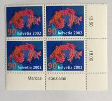 4 timbres suisses YT CH1740, Zum CH1059 se tenant neufs**