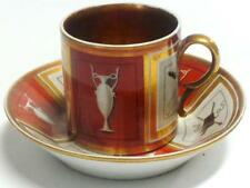 19th Century Old Paris Porcelain Greek Inspired Cup and Saucer