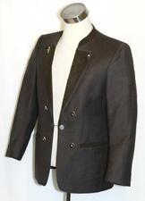 Brown BOILED WOOL JACKET Coat Men German SHORT SLEEVES Bavarian Western Sport M