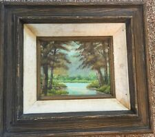 ORIGINAL OIL PAINTING ON CANVAS-NICELY FRAMED EXCELLENT DECORATIVE GIFT IDEA