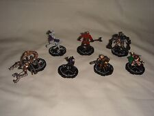 "Mage Knight ""Dark Riders"" Set of 7 Figures - Miniature Figures D&D War Games"