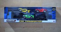 TEAMSTERZ TOY DIECAST & PLASTIC CAR TRANSPORTER HGV TRAILER 3 JAZZY SPORTS CARS