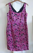 Laura Ashley pink floral pencil dress size 14 100%linen