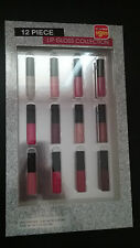 New In Box 12 Piece Beauty Focus Lip Gloss Collection