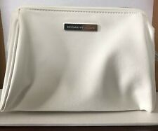 New Rodan and Fields White Travel Case Bag Makeup Pouch Zip Blue Lining Cosmetic