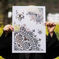DIY Craft Wall Painting Scrapbooking Stamping Mandala Stencils Template Tool