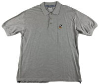 Walt Disney World Embroidered Mickey Mouse Polo Shirt Gray Size Large