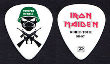 Iron Maiden Dave Murray Trooper Murray White Guitar Pick - 2006-2007 Tour