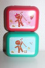 Tupperware Twin 2-tlg Set mit Weihnachten Motiv Dosen Frühstückdox Pausen Box