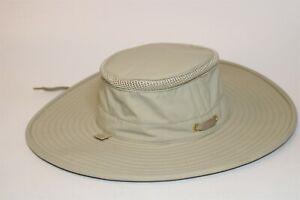 The Airflo Tilley Hat Mens 7 Khaki Nylon Fabric Breathable Rain Proof Sun Hat