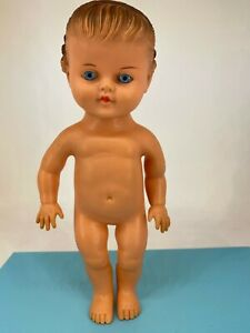 Vintage - 1950s - Rubber Doll - Blue Eyes & Curls