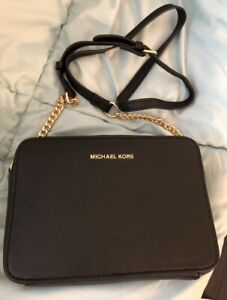 Michael Kors Jet Set Crossbody Bag Black