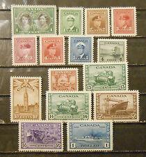 Canada stamp lot older mint OG hinged VF