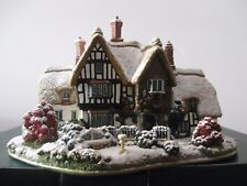 """Lilliput Lane L2438 """"Country Living In Winter"""" with deed, boxed"""
