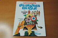 LES CHARLOTS LES BIDASSES EN FOLIE  1971  CLAUDE ZIDI  RARE SYNOPSIS