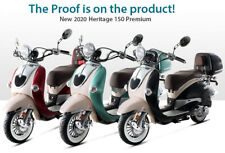 New ListingFree Ship 2020 Bms Heritage 150cc Moped Gas Scooter Retro Motorcycle +Windshield