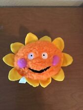 Zanies Smiling Orange and Yellow Sun Dog Toy Plush with Squeaker 8 inch New
