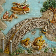 Bumbles Bridge New Byron Secret Garden Harmony Kingdom Picturesque Tile Premiere
