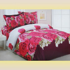 4 Piece Luxury Modern Floral Duvet Cover Set, Bed in a Bag, Full/Queen Le234Q