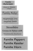 ID Briefkastenschild mit Gravur nach Wunsch Namensschild Türschild Edelstahl