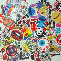 100 x Aufkleber Doodle Retro Sticker Set Sponsoren Auto Stickerbomb Laptop Handy
