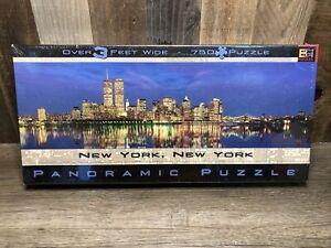 Sealed - BGI Panoramic Puzzle -- New York World Trade Center Twin Towers 750 PC