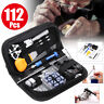 Watch Repair Tool Kit Opener Link Remover Spring Bar Free Hammer Carry Case US