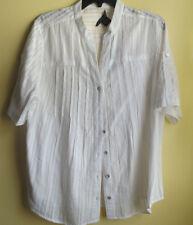 PRESWICK & MOORE Ladies White Blouse / Size Large NWT