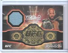 2016 TOPPS UFC KNOCKOUT DEMETRIOUS JOHNSON BELT PLATE MAT RELIC CARD ~ 07/50 MMA