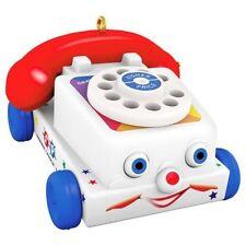 2017 Hallmark Tiny Chatter Telephone Mini Ornament  Fisher Price  Toy